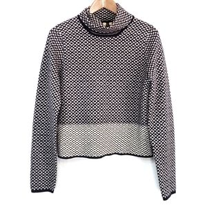 Anthropologie Moth Nightsnow Turtleneck Crop